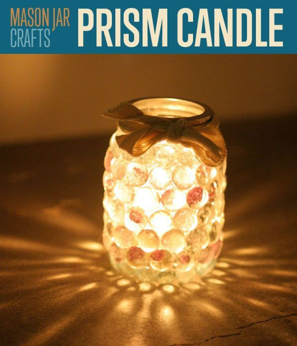 Prism Candle Light: Mason Jar Crafts | This prism candle holder made from a mason jar is our favorite mason jar craft | DIYReady.com