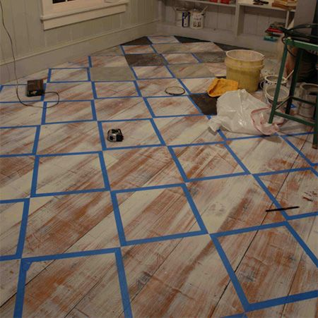 Best 20 paint wood floors ideas on pinterest painted - Painted parquet floor pictures ...