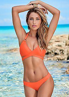 Women's Sport Bikini Tops | Venus Wrap Halter Bikini Top  $36  Low Rise Moderate Bikini  $26  Scoop Front Moderate Bikini  $26  More Colors Available