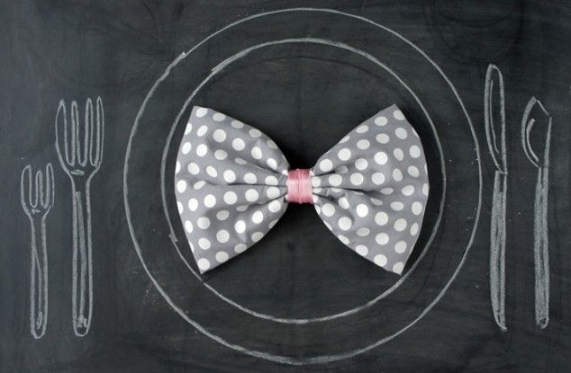 Modern Ways To Fold Napkins Bow-Tie Napkin Fold