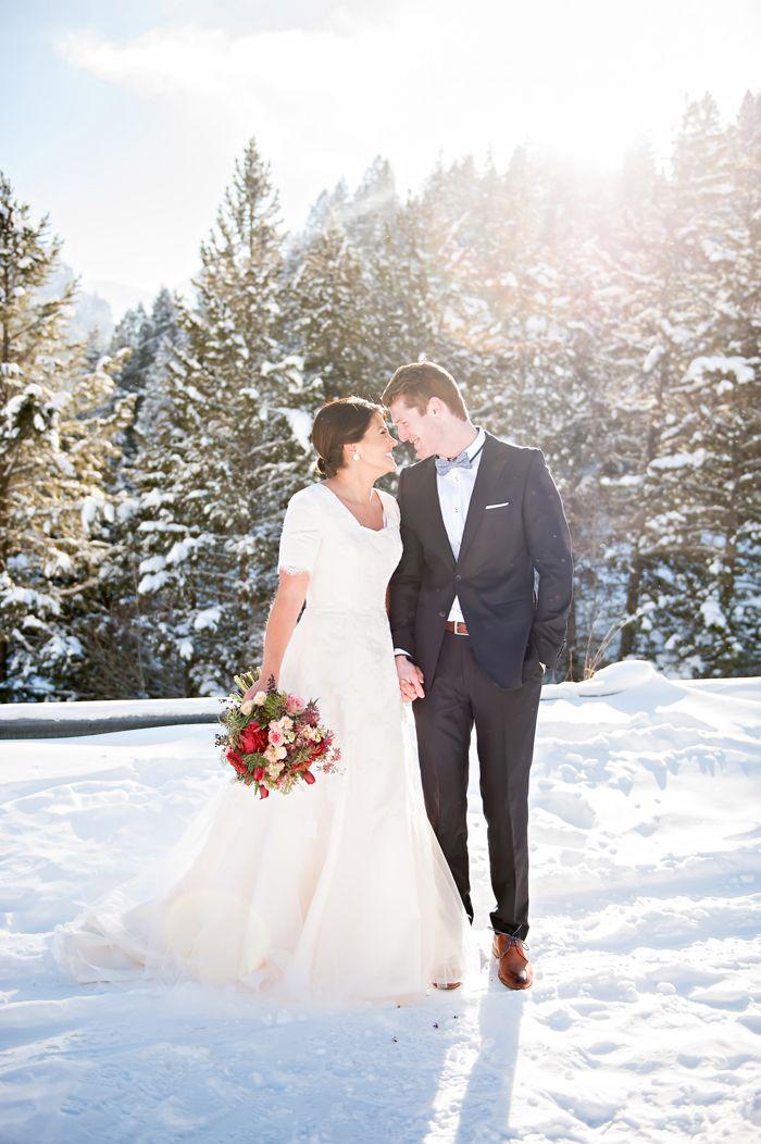 Utah Snowy wedding ♡