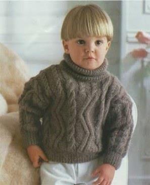 Вязанный детский свитер с описанием