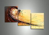 3076 handmade 3 peça moderna contemporânea abstrata linhas de pintura a óleo sobre tela wall art imagem para sala de estar