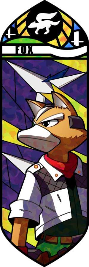 I'm not that huge of a fan of this one.  The vector illustration is conflicting in its design.  Fox McCloud's face looks too elongated and doesn't match well with his more casual shaped body.  The background is great, though, as it really captures the feeling of Star Fox well.