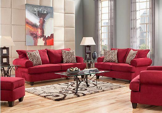 shop for a brookhaven crimson 7 pc living room at rooms to go find rh pinterest com