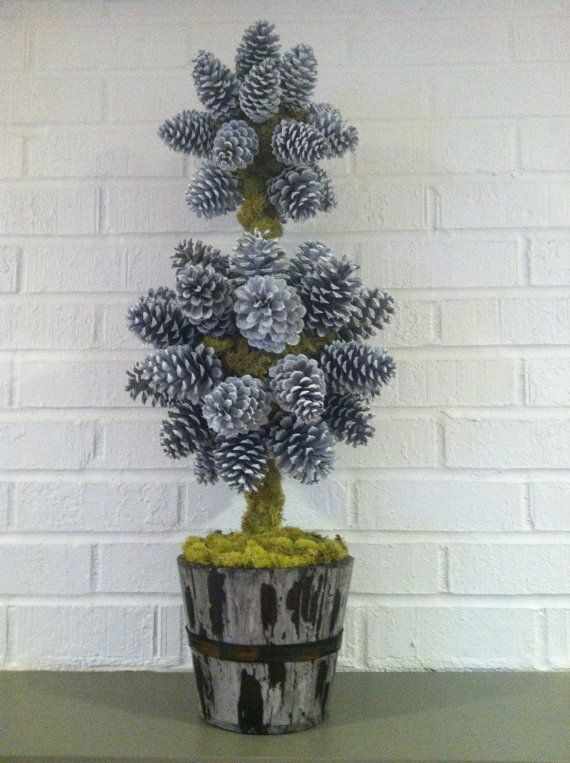 Pine Cone Christmas Topiary Tree by NatureColorLovers on Etsy, $40.00 #NatureColorLovers #Pineconetopiary