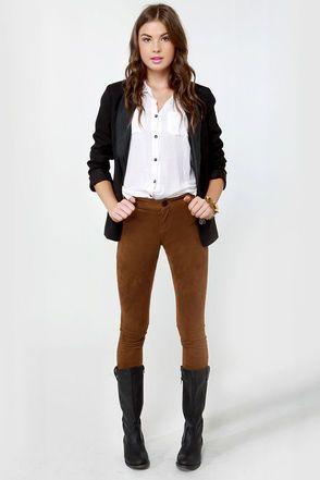 BB Dakota Astin Cognac Pants - Brown Pants - Brown Leggings - $70.00