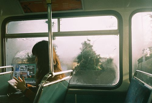 """I watch the trees roll by on the transit ride to San Francisco. I sit, alone my eyes focused on a book until someone moves from the back and to the empty seat beside me. First he eyes me and nods. He wraps an arm around my should a and I jump."""" Don't move, I'm here to keep you safe."""" His eyes seem I glow supernaturally.( open maybe romance, decide what he is. Credit to Katriel Moriarty)"""