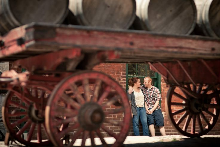 Distillery Historic District Engagement Session | That's a perfect frame! #photography ~ http://www.focusproduction.ca/the-distillery-district-toronto-engagement/