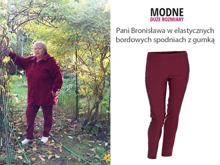 W październikowej galerii serdecznie witamy Panią Bronisławę, która ma na sobie elastyczne bordowe spodnie :D W pasie znajduje się gumka dzięki, której świetnie dopasowują się do każdej sylwetki ;) Pasują do codziennych i eleganckich strojów, a zwłaszcza do jesiennych kolorów <3 Jak Wam się podobają? (y) Elastyczne bordowe spodnie zobaczysz tu http://bit.ly/2aaDoqn Inne kolory znajdziesz tu http://bit.ly/2anUEIt
