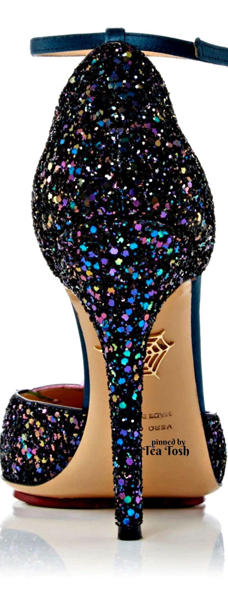Sapato - Salto Agulha - Glitter - Charlotte Olympia