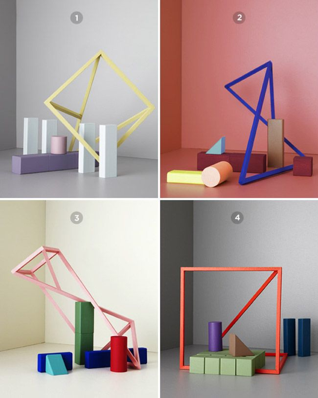 colour trend palettes on unexpected angles/shapes by The Colour Field