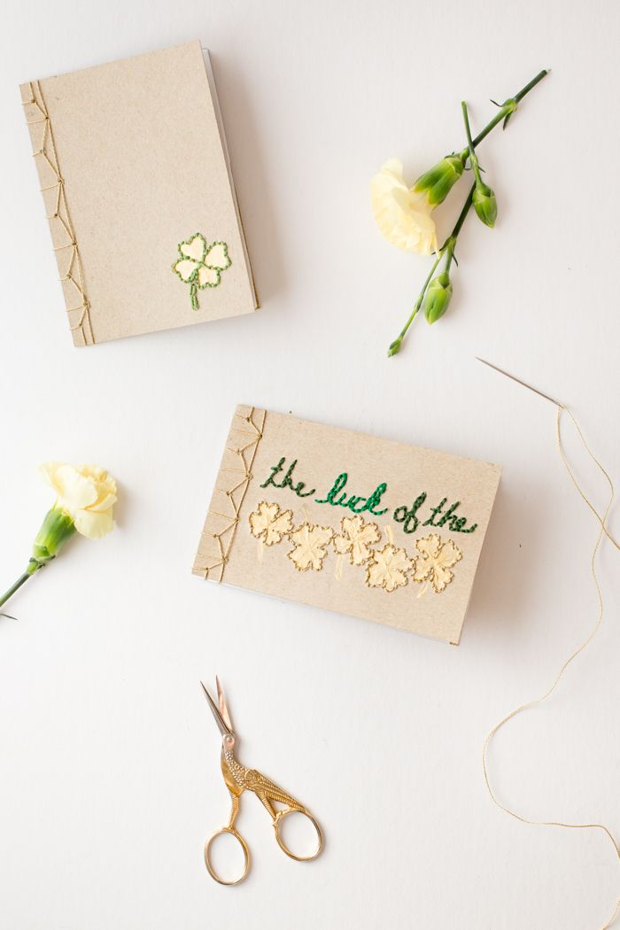 Martha Stewart Fabric Book Cover : Book binding tutorial with embroidered cover handmade