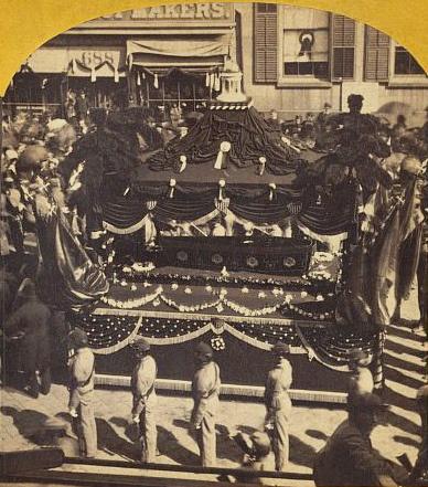 Abraham Lincoln's funeral cortege.