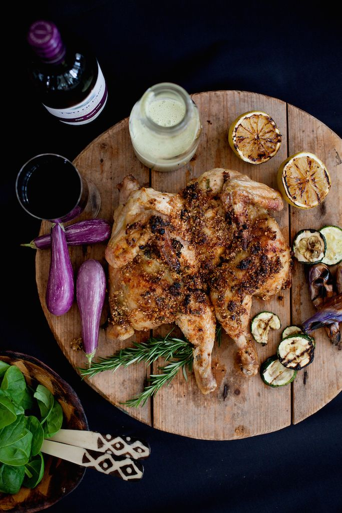 Dukkah chicken, Two Ocean Wines, food styling, South Africa