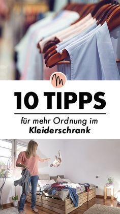 10 Tipps für mehr Ordnung im Kleiderschrank/Kleiderschrank-Detox via http://Makerist.de