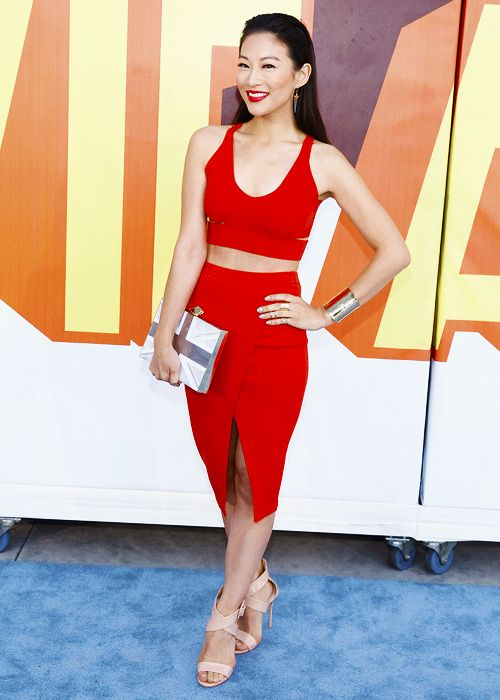 Arden Cho attends The 2015 MTV Movie Awards at Nokia Theatre L.A. Live on April 12, 2015 in Los Angeles, California.