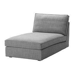 KIVIK Chaise longue, Isunda gris - Isunda gris - IKEA