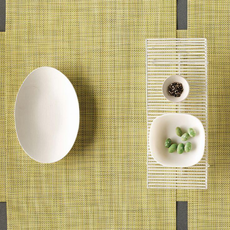 Mini Basketweave Placemat in Lemon Rectangle 21