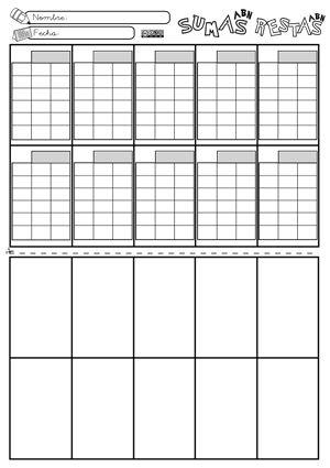 Plantillas Puzzle 10 sumas o restas ABN