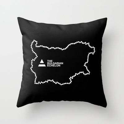 The Bulgarian Echelon (B/W) Throw Pillow by Vanya Vasileva - $20.00 http://society6.com/vanyavasileva/