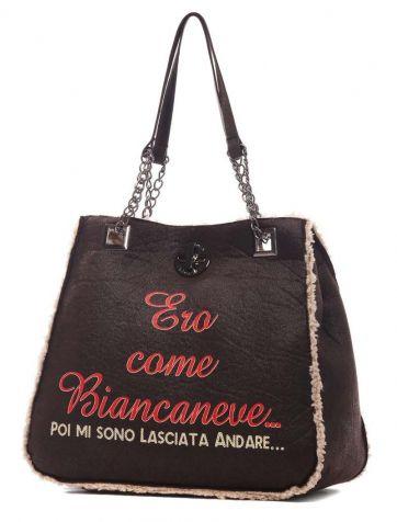 Le Pandorine - Borse - Shopping - Donna - CLASSICMONTONEBianca - FASHIONQUEEN.NET    #Le Pandorine #Biancaneve #Fashionqueen