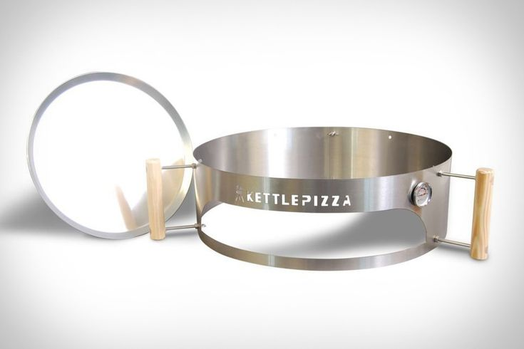 Want to make an authentic pizza on your grill? Here's your chance with the Kettle Pizza kit. Comes with a stainless steel sleeve, thermometer, an aluminum pan, a pizza stone!