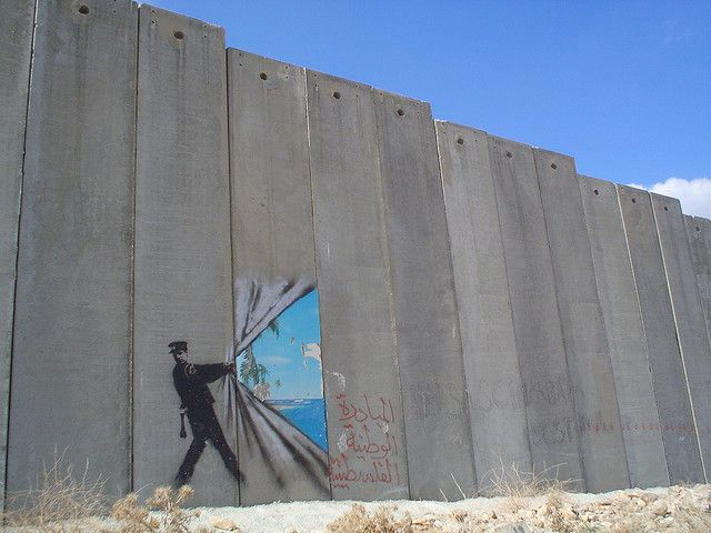 Escape - Bansky (Palestine) except maybe it aint so sunny on the other side...