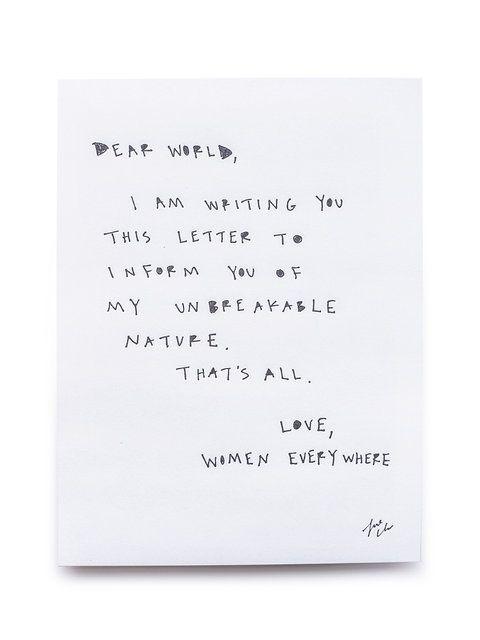 "Cleo Wade ""Dear World"" Limited Edition Print"