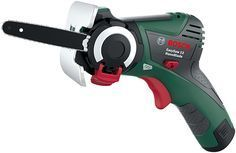 Bosch (Europe) has come out with new NanoBlade mini chainsaw-style wood-cutting saws for all kinds of DIY applications. Whoa.