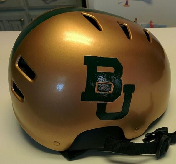 """Finished with the bike helmet; there is no doubt my kid is #BaylorProud!"" (via 2ndstorer on Twitter) #SicEm"