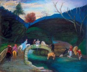Csontváry Kosztka Tivadar - Hídon átvonuló társaság