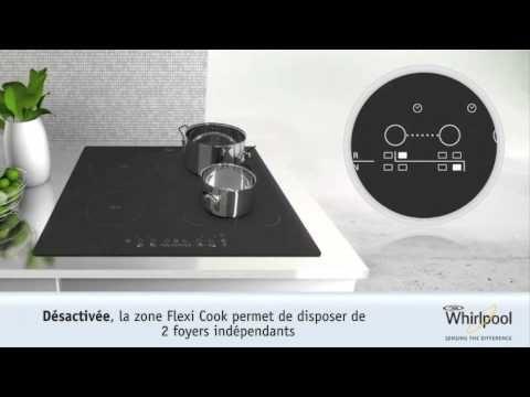 Innovation Whirlpool : plaque de cuisson induction Flexi Cook