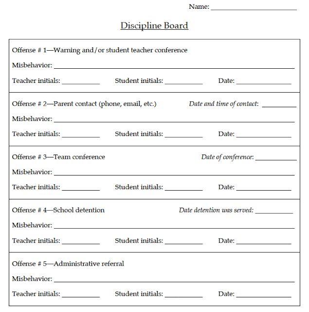 school write up form