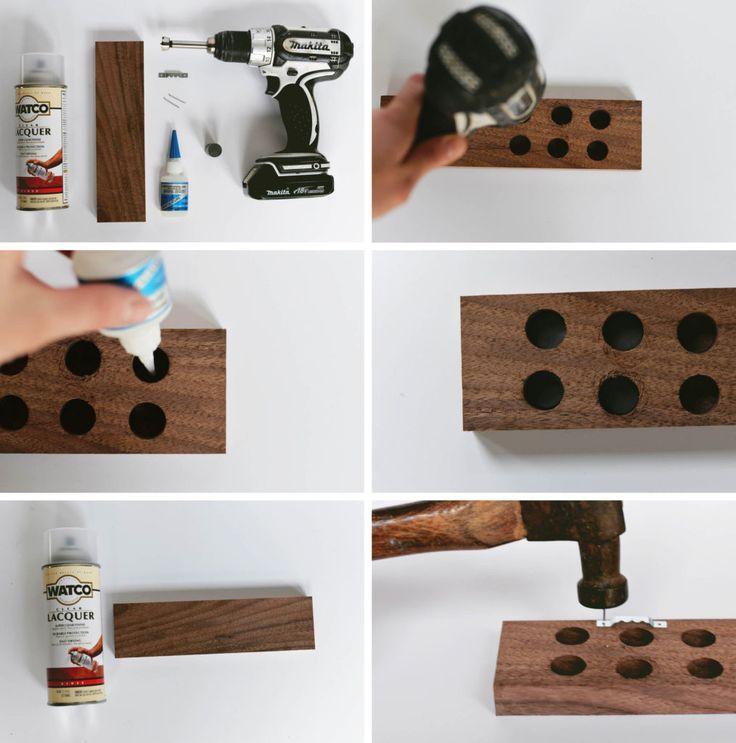 magnetic knife rack DIY tutorial