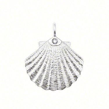 THOMAS SABO Sweet Diamonds conch pendant with eyelet, made from  925 Sterling silver, with a diamond (0,017 ct) / round brilliant-cut, size: 1.9 cm.