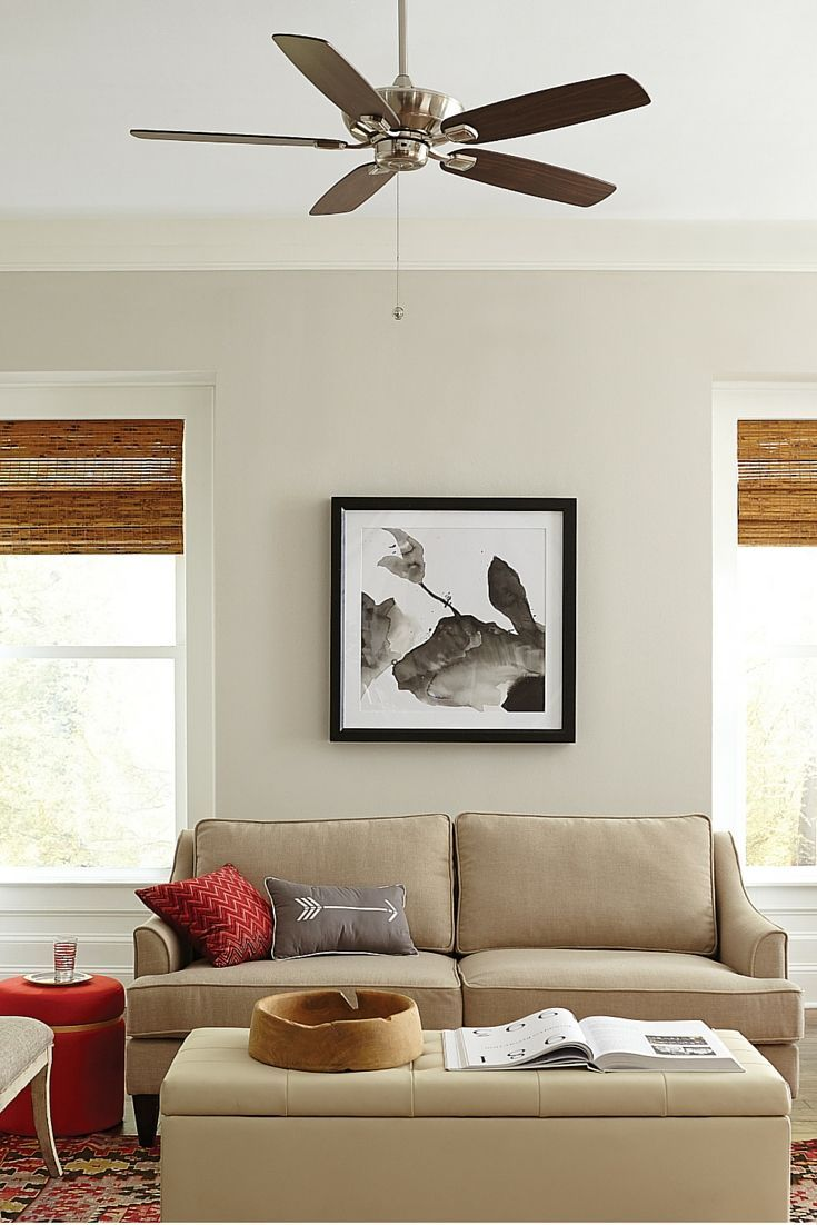Silhouette And Multiple Finish Mounting Options Of The Colony Max Ceiling Fan By Monte Carlo Make It A Universal Choice For Any Dcor Room Size