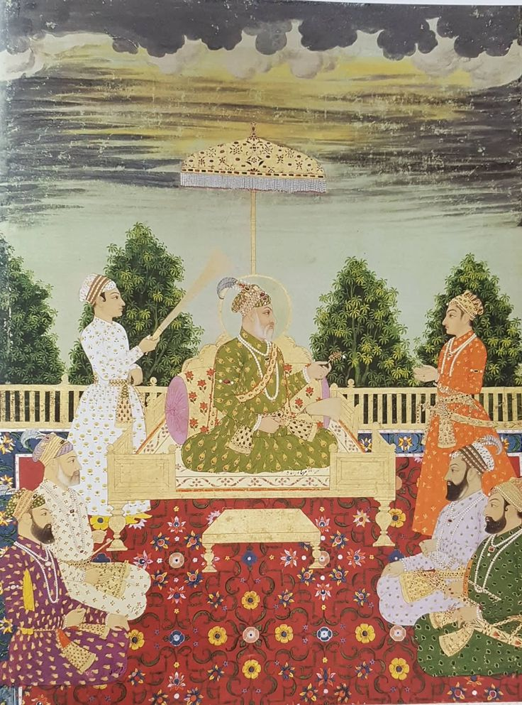 Bahadur Shah hands a sarpech to his grandson Delhi, c1720 Now in San Diego Museum