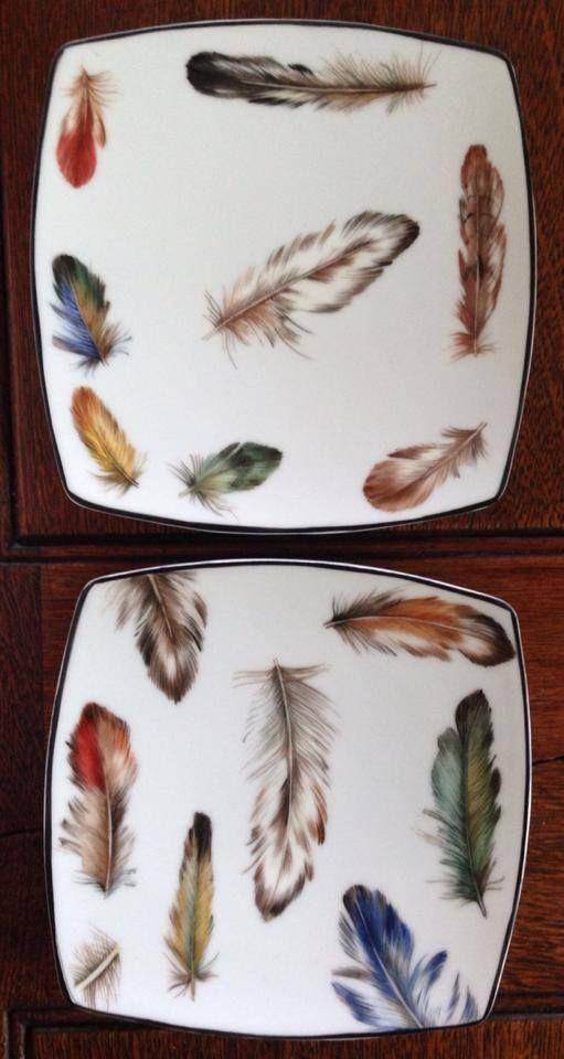 borden met veertjes
