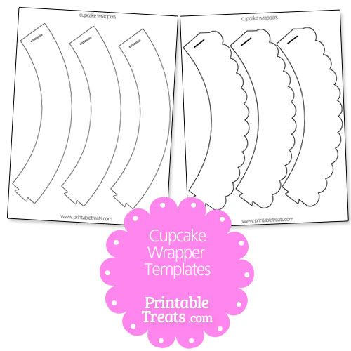 Cupcake Wrapper Template from PrintableTreats.com