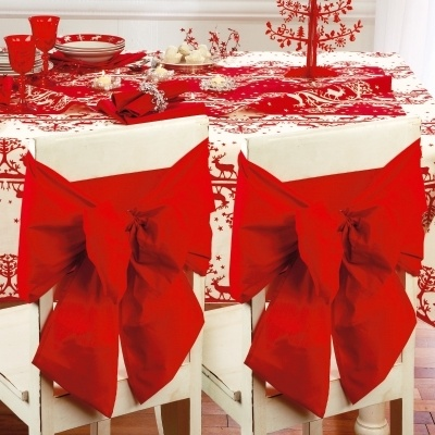 ... DOSSIER de chaise DECORATION NOEL & MARIAGE NOEUD rouge QUALITE: Chair