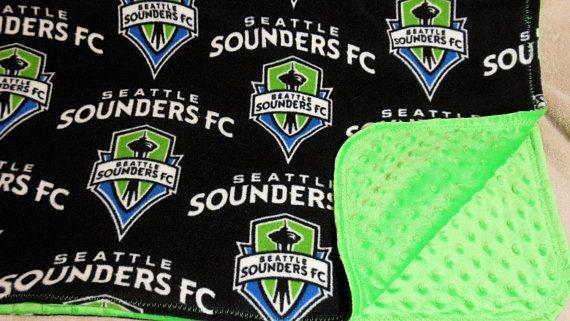 Seattle Sounders FC Minky Baby Blanket-MLS Sounders