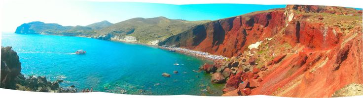 5 Red beach ,Santorini island