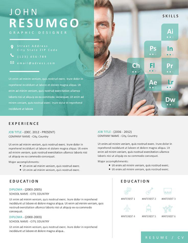Envo eyecatching resume template resume