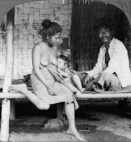 A Javanese family at Tasik Malaya, Java