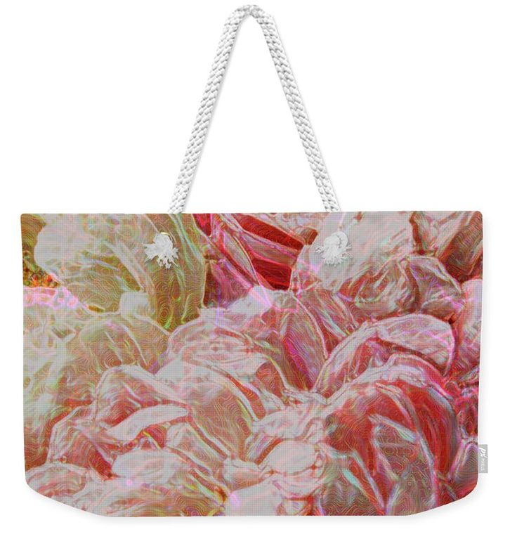 Peony Weekender Tote Bag featuring the photograph Pink Peony by Nareeta Martin