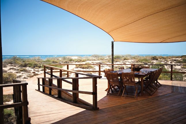 Ever slept in a luxury tent, practically on the beach, with a stunning view on Ningaloo Reef? Sal Salis is exactly what you are looking for!