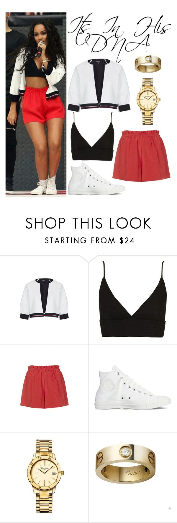 """Leigh Anne Pinnock Wembley 10/26/14"" by katiehorror ❤ liked on Polyvore featuring Topshop, Boutique, Converse, Thomas Sabo and Cartier"