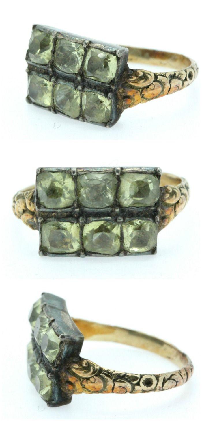 A wonderful Georgian Chrysoberyl Georgian Ring. Circa 1770's.