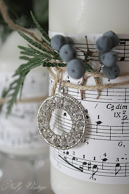 decorate candles with music Put a Song in My Soul!